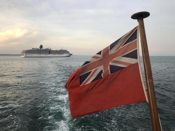 Flag of inconvenience: Arcadia is currently immobile in Poole Bay (Simon Calder)