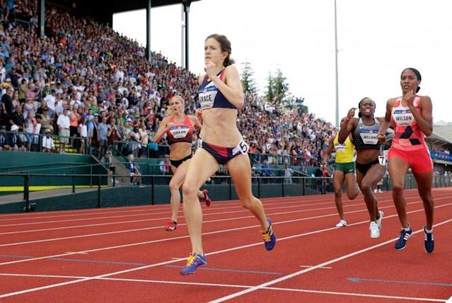 Kate Grace, 27, won the 800 at the U.S. Olympic Track & Field Trials. She is sponsored by Oiselle, a private running apparel company. (Getty Images)