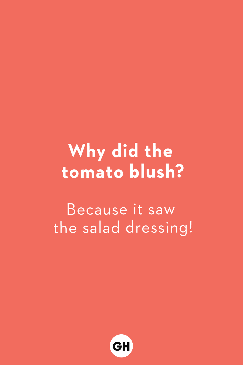 <p>Because it saw the salad dressing!</p>