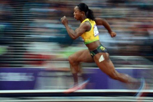 Jamaica's Veronica Campbell-Brown competes in the women's 200m semi-finals
