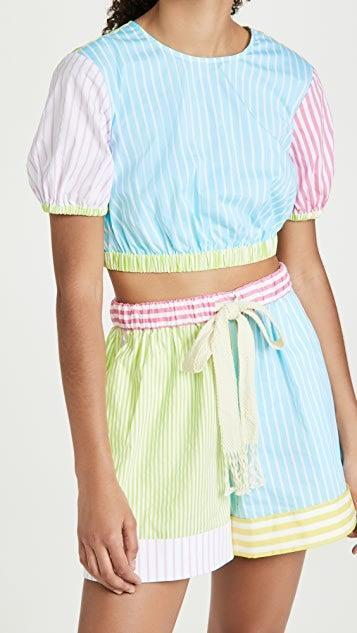 """<h2>Stripes</h2><br>""""Stripes are the print of the summer! From bold stripes to tiny stripes, no pattern feels more suited for the warmer weather.""""<br><br>- Caroline Maguire, Fashion Director at Shopbop <br><br><strong>Staud</strong> Athena Top, $, available at <a href=""""https://go.skimresources.com/?id=30283X879131&url=https%3A%2F%2Fwww.shopbop.com%2Fathena-top-staud%2Fvp%2Fv%3D1%2F1599951212.htm"""" rel=""""nofollow noopener"""" target=""""_blank"""" data-ylk=""""slk:Shopbop"""" class=""""link rapid-noclick-resp"""">Shopbop</a>"""
