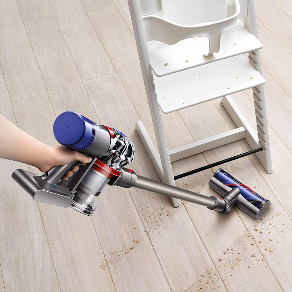 """<br><br><strong>Dyson</strong> V8 Animal Cordless Stick Vacuum Cleaner, $, available at <a href=""""https://amzn.to/31CWFNZ"""" rel=""""nofollow noopener"""" target=""""_blank"""" data-ylk=""""slk:Amazon"""" class=""""link rapid-noclick-resp"""">Amazon</a>"""