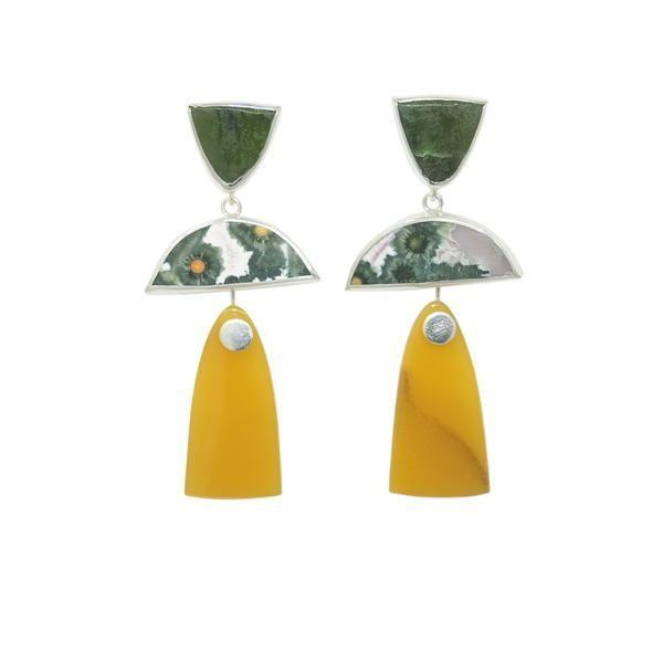 """<p>octavejewelry.com</p><p><strong>$44.00</strong></p><p><a href=""""https://octavejewelry.com/collections/ear/products/trio-drops-garden-combo"""" rel=""""nofollow noopener"""" target=""""_blank"""" data-ylk=""""slk:Shop Now"""" class=""""link rapid-noclick-resp"""">Shop Now</a></p><p>We love the earth-inspired geometries of these Brooklyn-made earrings from Octave. They are the perfect Zoom earring and ultra-flattering. </p>"""