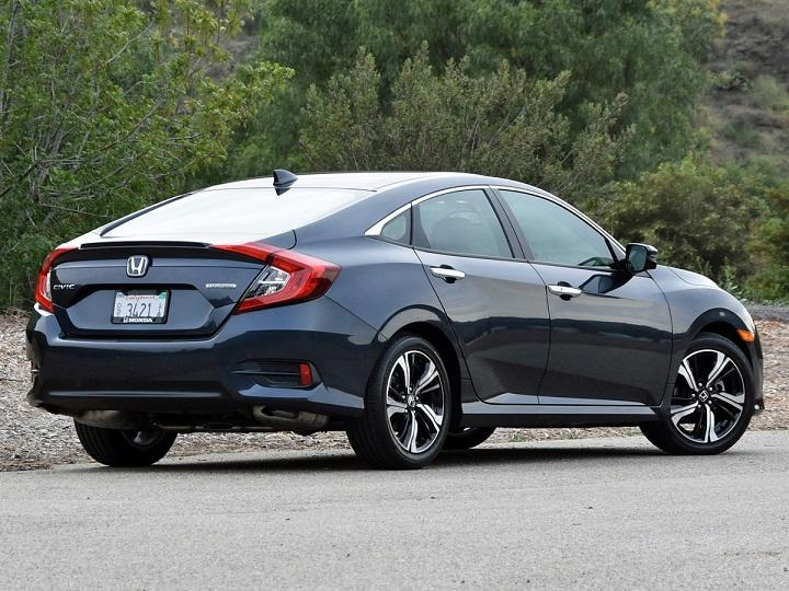 2016 Honda Civic Sedan Touring Rear Quarter Right Photo