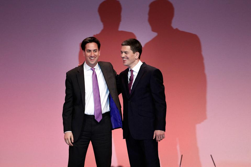 Ed Miliband and his brother David (Getty Images)