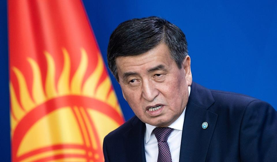 President Sooronbay Jeenbekov says he is prepared to resign once a new election date has been set and a new parliament confirmed. Photo: dpa