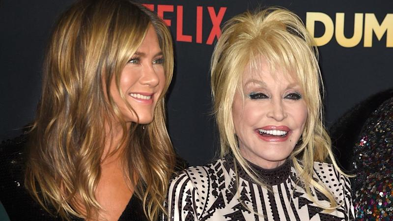 1873d88f85df Dolly Parton Dishes on Jennifer Aniston's Upcoming 50th Birthday Party  (Exclusive)