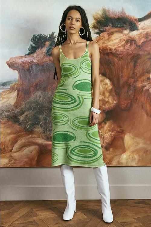 """<strong>House Of Sunny </strong>Hockney Dress, ca. 107,68 €, erhältlich bei <a href=""""https://www.houseofsunny.co.uk/product-page/hockney-dress"""" rel=""""nofollow noopener"""" target=""""_blank"""" data-ylk=""""slk:House of Sunny"""" class=""""link rapid-noclick-resp"""">House of Sunny</a>"""