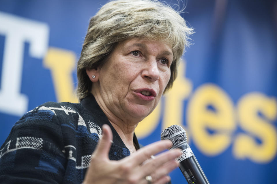 Randi Weingarten, president of the American Federation of Teachers, addressed stressors affecting teachers. (Photo: Tom Williams/CQ-Roll Call, Inc via Getty Images)