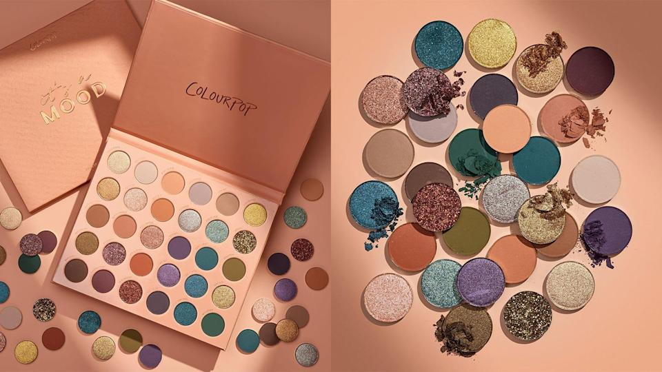 Add pops of color to your lids with the It's A Mood eyeshadow palette from Colourpop.