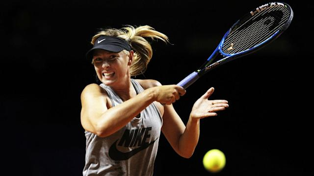 A packed crowd witnessed Maria Sharapova's winning comeback on the WTA Tour at the Stuttgart Open.