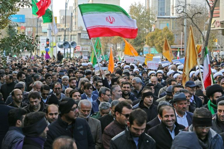 Iran's state TV has not aired any new footage of the unrest since Wednesday, focusing rather on 'spontaneous' pro-government rallies in several cities across the country