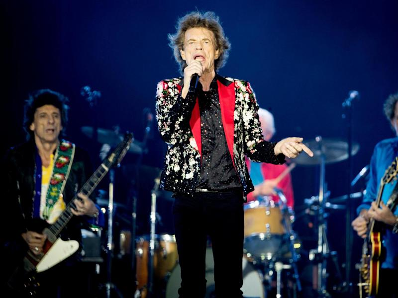 Ronnie Wood, Mick Jagger, Charlie Watts and Keith Richards of The Rolling Stones perform on 30 August 2019 in Miami, Florida: Rich Fury/Getty Images