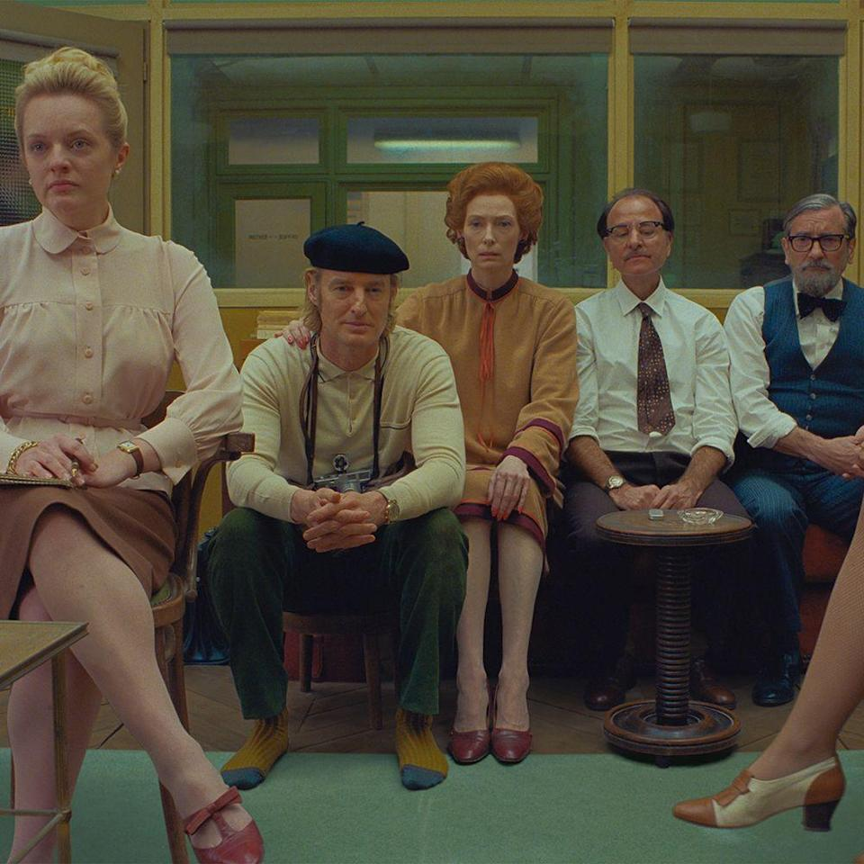 """<p>Texas-born filmmaker Wes Anderson has another audio-visual treat set in another fictional town (this time, we're headed to Ennui-sur-Blasé) for his dedicated fan base come summer. Dubbed a love letter to journalists, it will follow three interconnect stories published in the titular magazine, inspired by <em>The New Yorker</em>. The cast calls upon Anderson film alums like Owen Wilson, Tilda Swinton, Bill Murray, and others, with first-timers Elisabeth Moss and Timothée Chalamet also joining the club. For more, <a href=""""https://www.harpersbazaar.com/culture/film-tv/g30893550/the-french-dispatch-cast/"""" rel=""""nofollow noopener"""" target=""""_blank"""" data-ylk=""""slk:read our Dispatch guide"""" class=""""link rapid-noclick-resp"""">read our <em>Dispatch</em> guide</a>.</p><p><strong>Original release date:</strong> July 24</p><p><strong>Now set for:</strong> TBA (delayed indefinitely)</p>"""