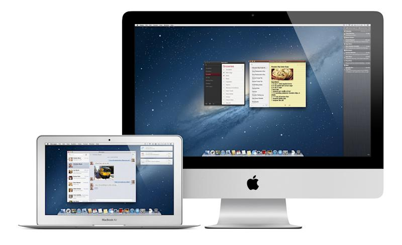 An undated image provided by Apple shows the new Mac operating system. The new system, formally OS X 10.8 and dubbed Mountain Lion, went on sale Wednesday, July 25, 2012 as a $19.99 download from Apple's App Store. It builds on the previous system, Lion, which came out last July. (AP Photo/Apple)