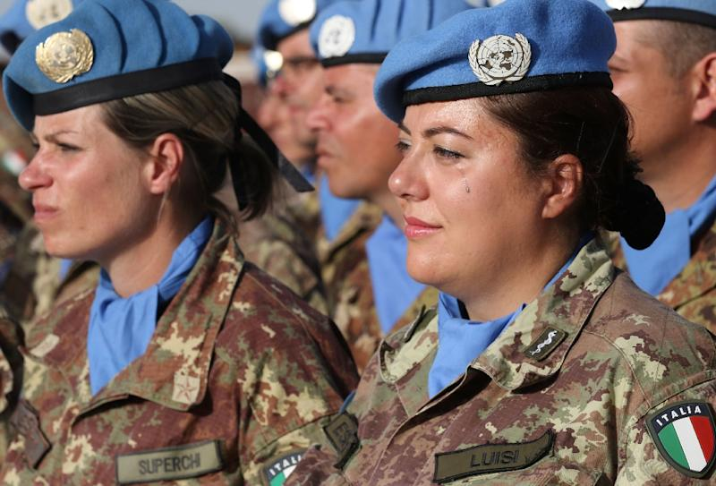 Members of the UN Interim Force in Lebanon (UNIFIL)