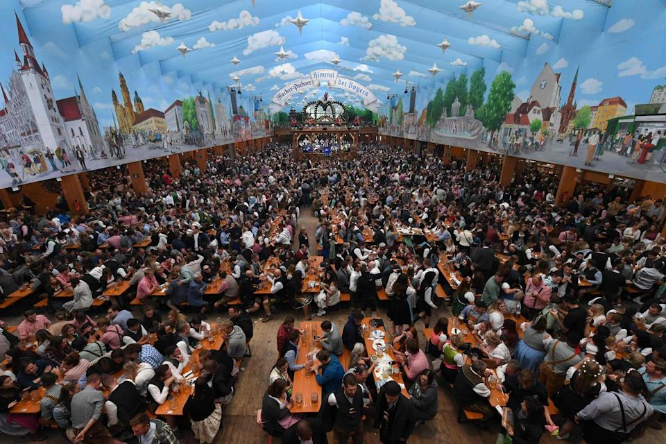 Oktoberfest has been cancelled this year because of the risk of coronavirus spreading  (AFP via Getty Images)