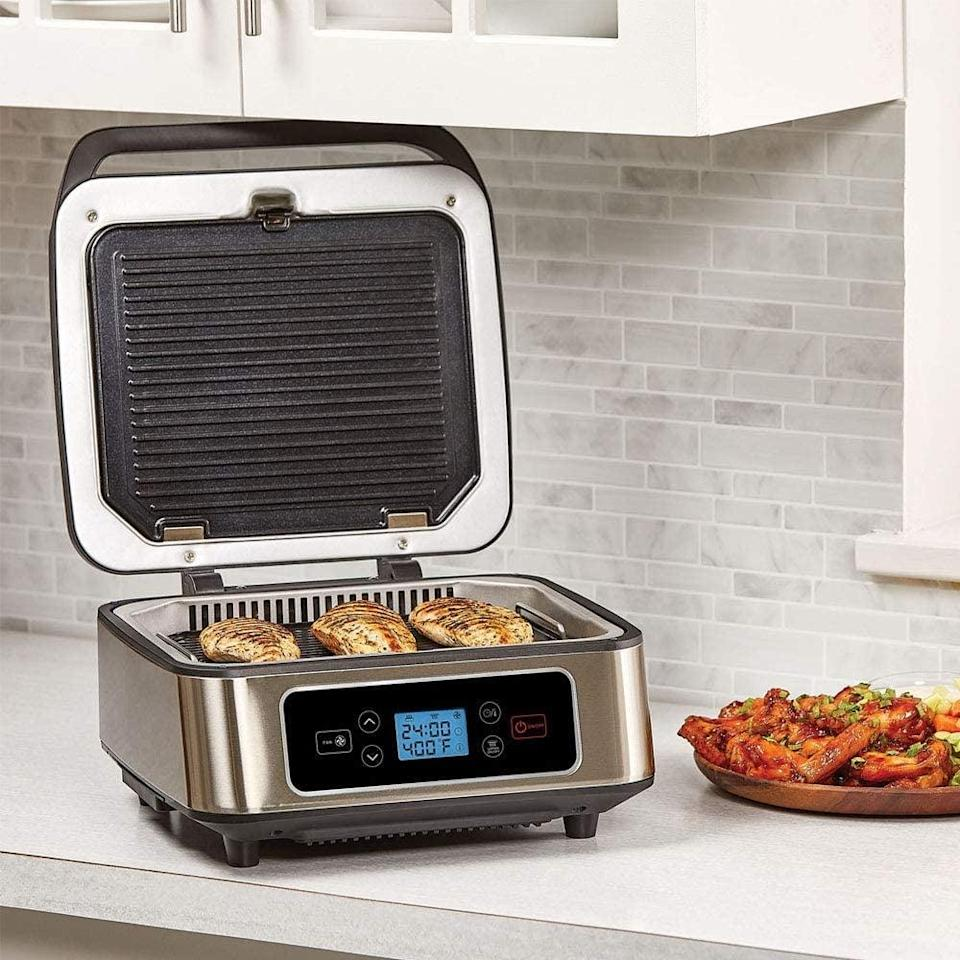 <p>Grill up a storm and make a panini to perfection with the <span>Shaq Smokeless Grill &amp; Press Electric Indoor Searing Grill &amp; Panini Press Grill Combo</span> ($96). Yes, it was made by NBA superstar Shaquille O'Neal.</p>