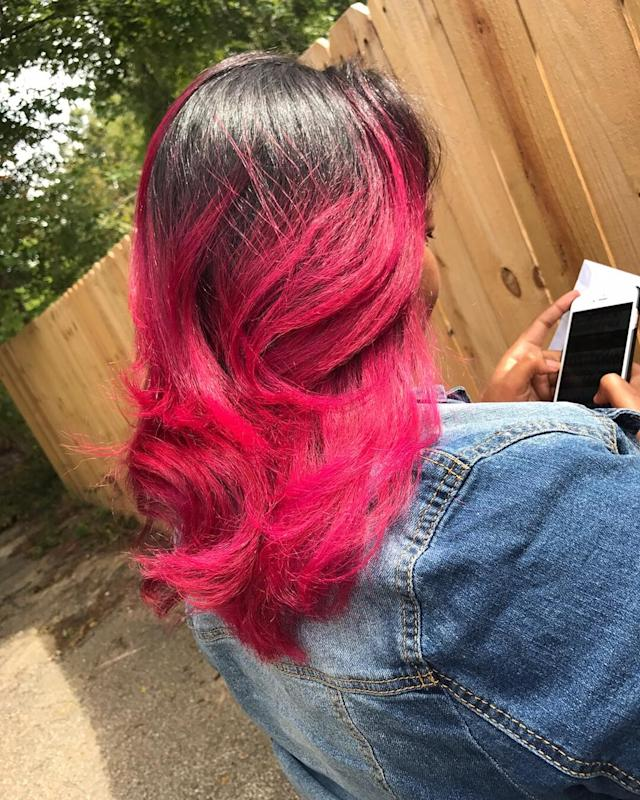 A photo of the gorgeous pink hair. (Photo: Courtesy of Janeese Murphy)