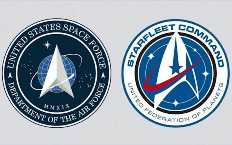 The new US Space Force logo is remarkably similar to that worn by the crew of the USS Enterprise