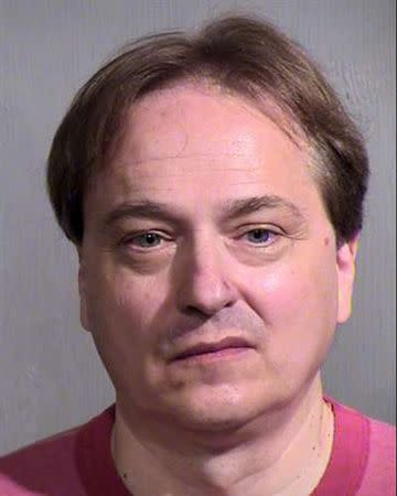 Peter Steinmetz is seen in an undated picture released by the Maricopa County Sheriff's Office in Phoenix, Arizona