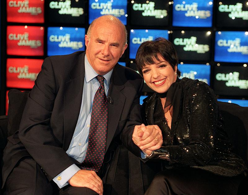 Actress/singer Liza Minnelli joins TV interviewer Clive James for the recording of the Clive James Show to be Screened this Sunday Night (23rd) for Carlton. Photo by Neil Munns/PA (Photo by Neil Munns - PA Images/PA Images via Getty Images)