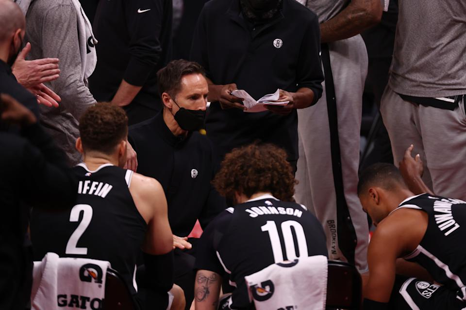 Head coach Steve Nash of the Brooklyn Nets
