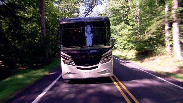 Taking an RV for a test drive. / Credit: CBS News