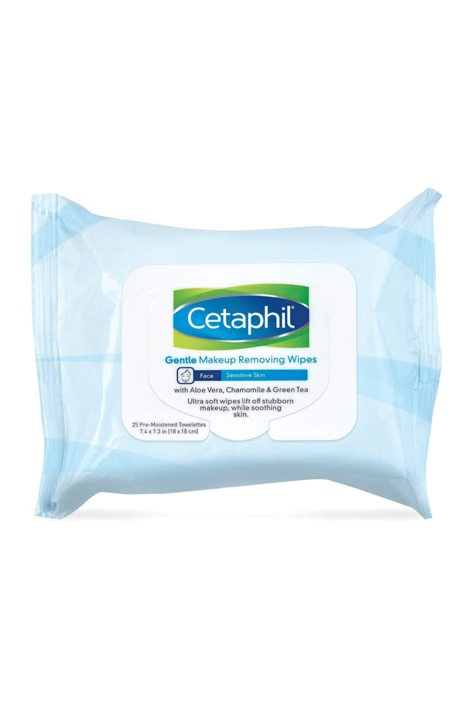 """<p><strong>Cetaphil</strong></p><p>amazon.com</p><p><strong>$6.19</strong></p><p><a href=""""https://www.amazon.com/dp/B01M4NFD2N?tag=syn-yahoo-20&ascsubtag=%5Bartid%7C10058.g.33863683%5Bsrc%7Cyahoo-us"""" rel=""""nofollow noopener"""" target=""""_blank"""" data-ylk=""""slk:SHOP IT"""" class=""""link rapid-noclick-resp"""">SHOP IT</a></p><p>If your skin erupts in red spots or blemishes when you cleanse it too harshly, Cetaphil's wipes are the easy-to-use answer to your removal needs. Aloe vera and chamomile help sooth the complexion while you wipe away any impurities. </p>"""