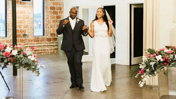 PHOTO: WNBA star Maya Moore and her newlywed husband Jonathan Irons on their wedding day two months after he was released from prison. (Kayla Johnson)
