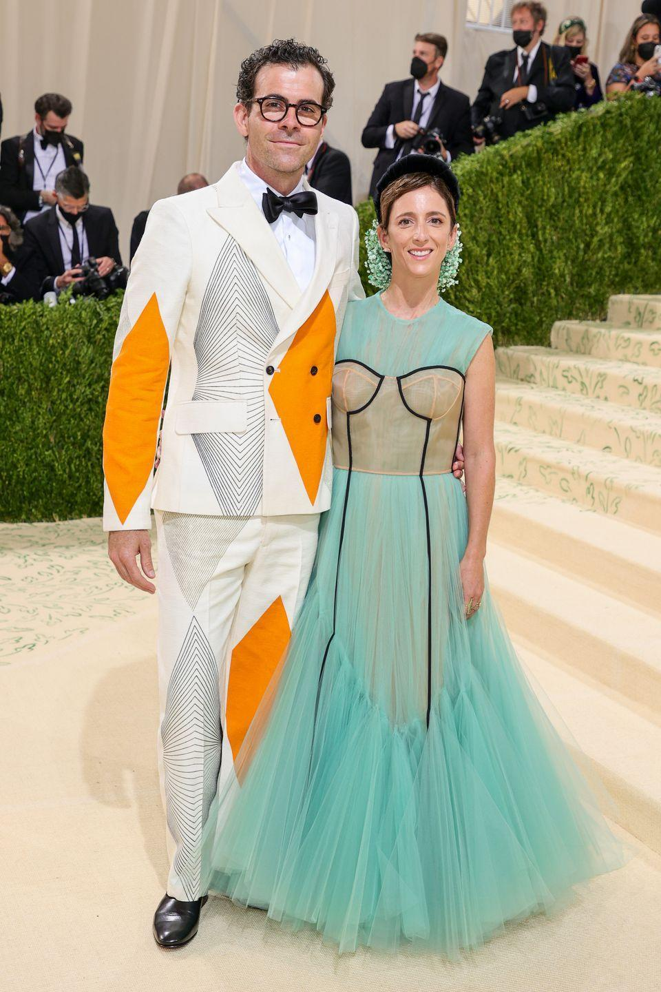 <p>The Honorary Chair and Instagram head made a statement with a graphic printed suit. </p>