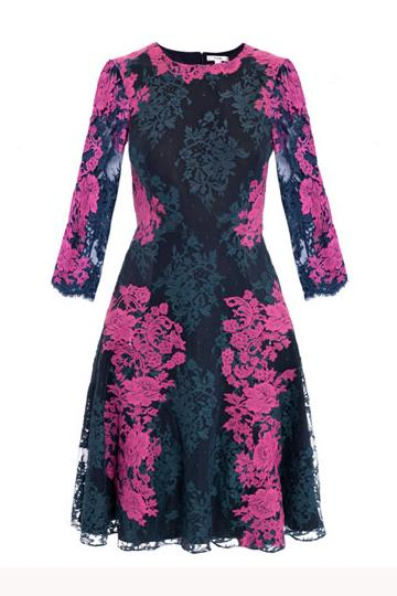 Lilac and blue dress up this Erdem lace dress