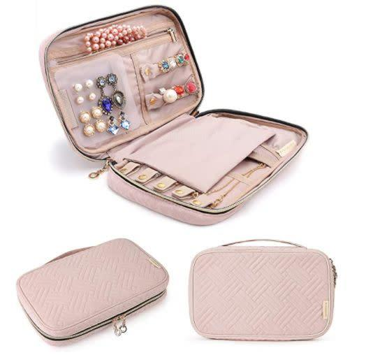 "Find this Bagsmart Jewelry Organizer Case for $20 on <a href=""https://amzn.to/32zmrUJ"" rel=""nofollow noopener"" target=""_blank"" data-ylk=""slk:Amazon"" class=""link rapid-noclick-resp"">Amazon</a>."