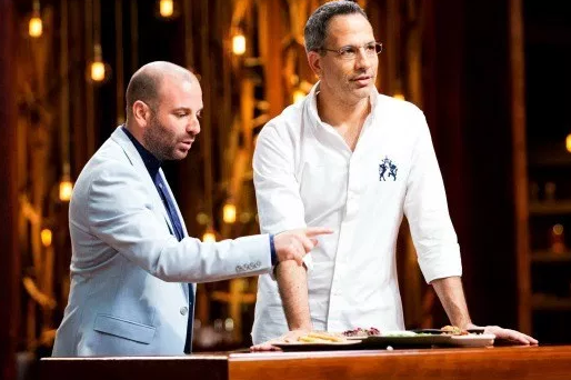 Yotam Ottolenghi has been a celebrity guest on Masterchef with George Calombaris throughout the series.