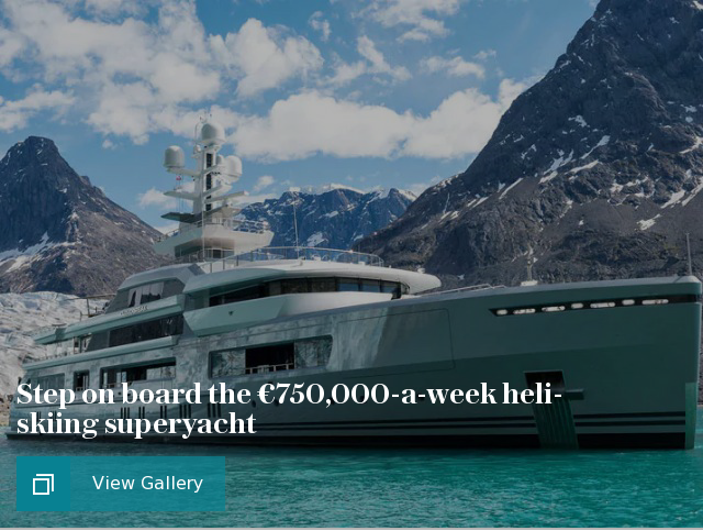 Step on board the €750,000-a-week heli-skiing superyacht
