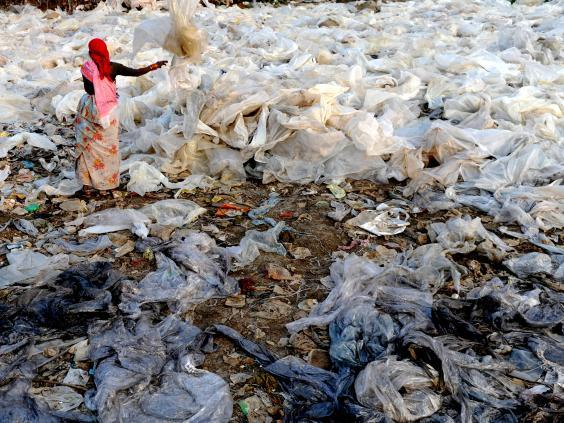 In March 2018, the state of Maharashtra banned the sale, use and distribution of plastic bags (Getty)