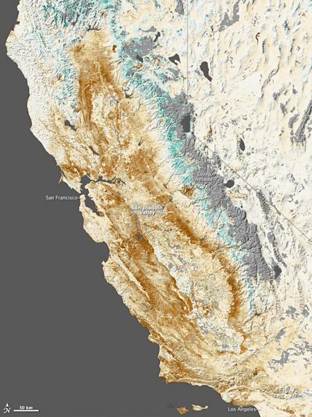 Nearly all of California was in a state of extreme drought at the end of January 2014.