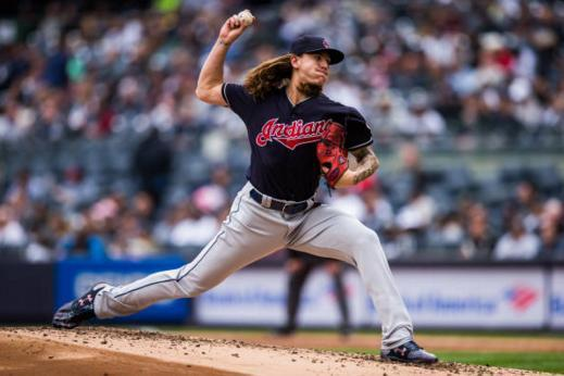 Indians pitcher Mike Clevinger sported some custom cleats that didn't earn MLB's approval. (Getty Images)Indians pitcher Mike Clevinger sported some custom cleats that didn't earn MLB's approval. (Getty Images)