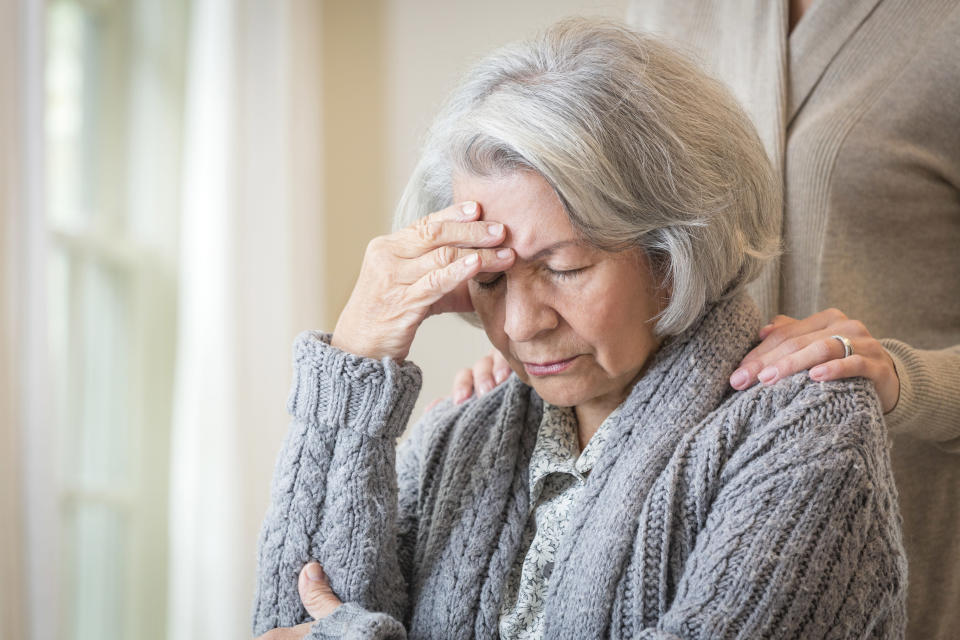 Around 850,000 people in the UK have dementia, with the risk increasing with age. (Getty Images)