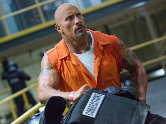 fate of the furious the rock