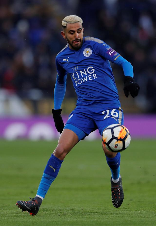 Soccer Football - FA Cup Quarter Final - Leicester City vs Chelsea - King Power Stadium, Leicester, Britain - March 18, 2018 Leicester City's Riyad Mahrez in action Action Images via Reuters/Andrew Couldridge