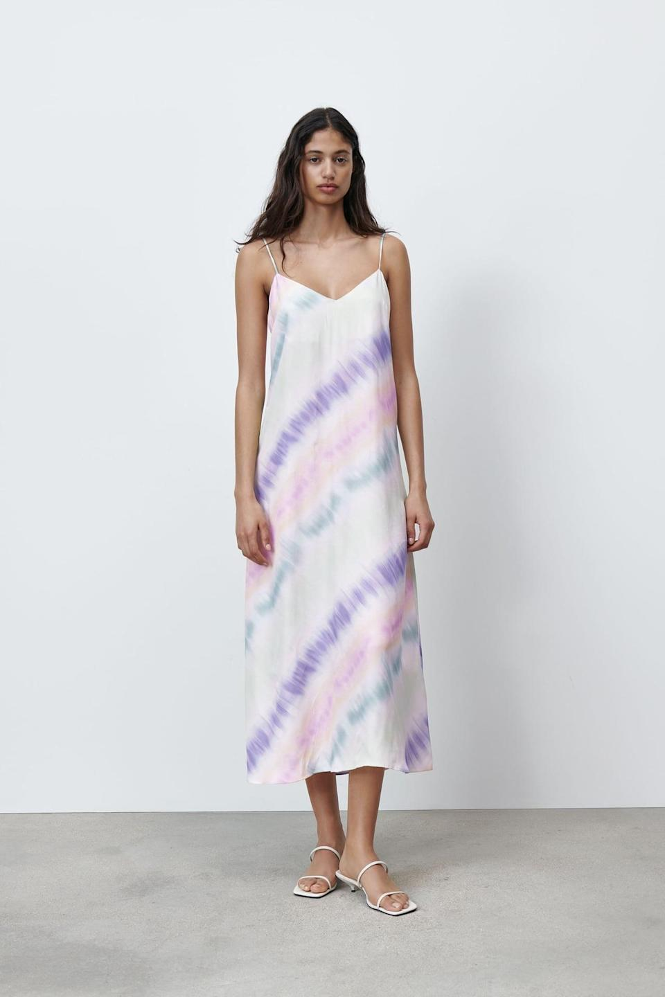 <p>I predict this <span>Zara Tie-Dye Satin Effect Dress</span> ($50) will sell out fast.</p>