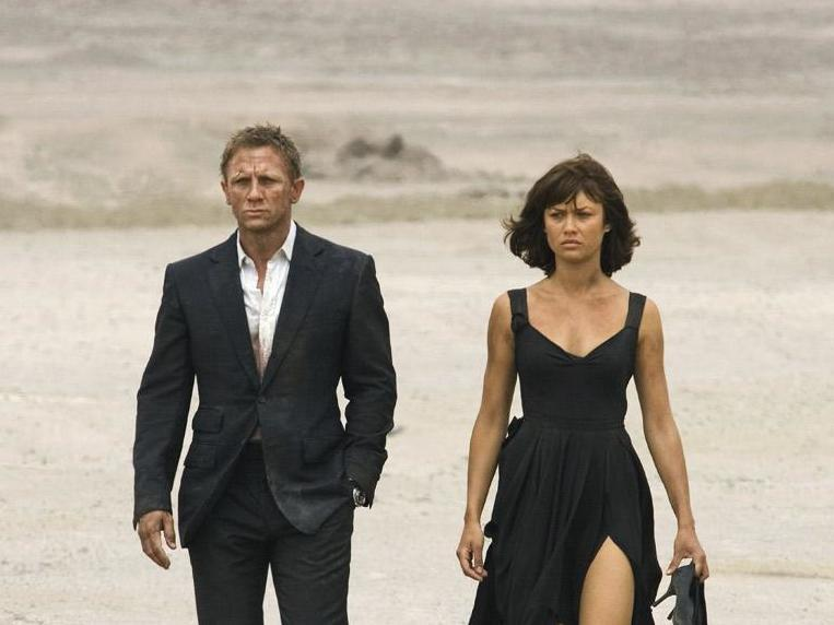 Daniel Craig and Olga Kurylenko as Camille Montes in 'Quantum of Solace' (Eon Productions)