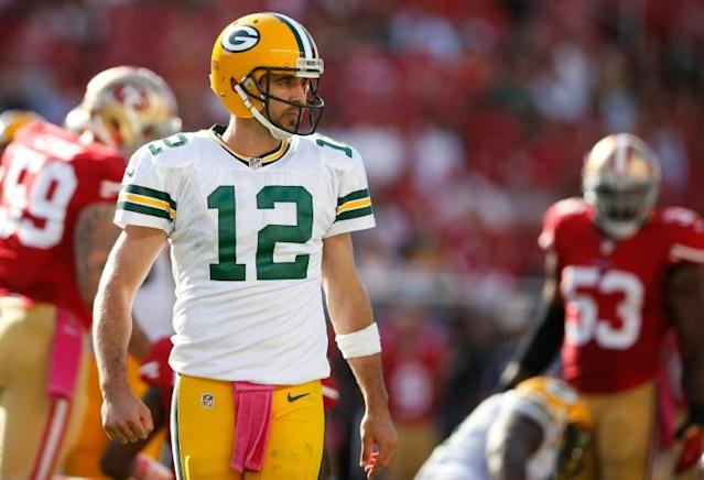 The San Francisco 49ers in-form defense will aim to thwart Green Bay's Aaron Rodgers on Sunday (AFP Photo/EZRA SHAW)