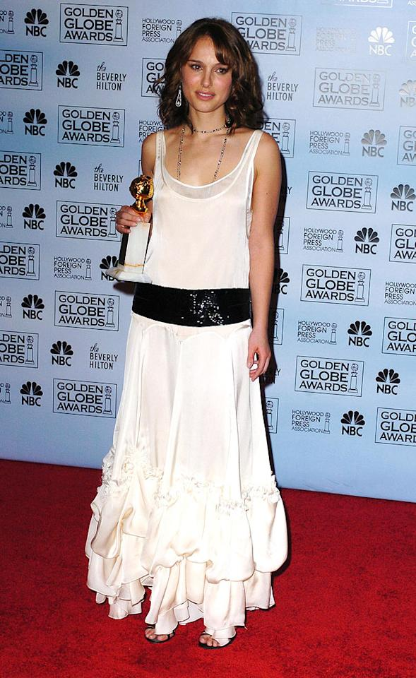"2005: Golden Globes   A Golden Globe! Portman took home a Supporting Actress Globe statue for her star turn as Alice/Jane in ""Closer,"" and was also nominated for an Academy Award."