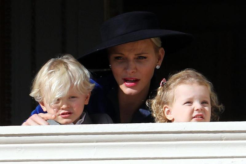 The adorable royals looked less than impressed. Photo: Getty Images