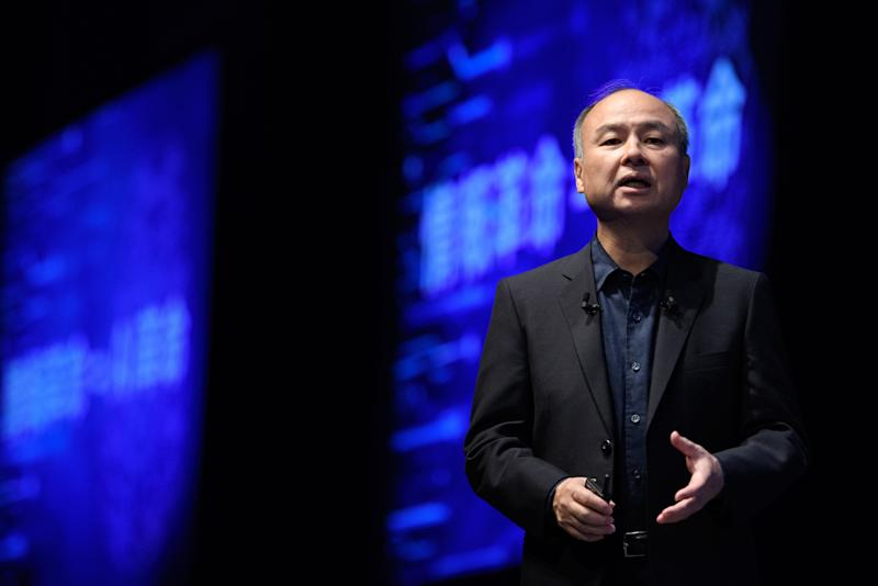 """(Bloomberg) -- Masayoshi Son likes to sketch out a grand vision for the future of artificial intelligence to justify his seemingly scattershot approach to investing. On Thursday, he let his proteges and startups speak for themselves.SoftBank Group Corp.'s $100 billion Vision Fund has 82 companies in its portfolio who delve into areas from satellites and autonomous driving to chips and cancer detection. The founders of Southeast Asian ride-hailing giant Grab, indoor farming startup Plenty, Indian hotel chain OYO Rooms and payments service Paytm took the stage at an annual SoftBank conference to explain how AI helps them stay on top in their respective fields.Ritesh Agarwal, Oyo's 25-year-old founder, said the company is using data to evaluate properties in under five days, a process that might take traditional hotels months. That allows the startup to add about 90,000 new rooms every 90 days, for a total of 1.1 million. Oyo also uses algorithms to predict what kind of interior design can boost demand -- pictures of Marilyn Monroe help, apparently -- and to adjust prices more than 43,000 times a minute.Grab's Anthony Tan said the company captures 40 terabytes of data daily through its """"superapp,"""" which has been downloaded 155 million times by customers who use it to call a ride, order lunch and pay for purchases. Crunching those numbers allows Grab to make sure a car can be hailed within three minutes and offer food recommendations. The data can also help reduce congestion in Southeast Asia's crowded cities, reduce food wastage and improve access to credit.Each of Paytm's 700 billion mobile payment transactions runs a gauntlet of more than 1,000 checks in a thousandth of a second, to root out fraud, founder Vijay Shekhar Sharma said at the event. The rules can be as simple as comparing the phone's location to that of a merchant receiving payment, and declining those that don't match. The data could also be used by sellers to determine in real time whether to extend a """