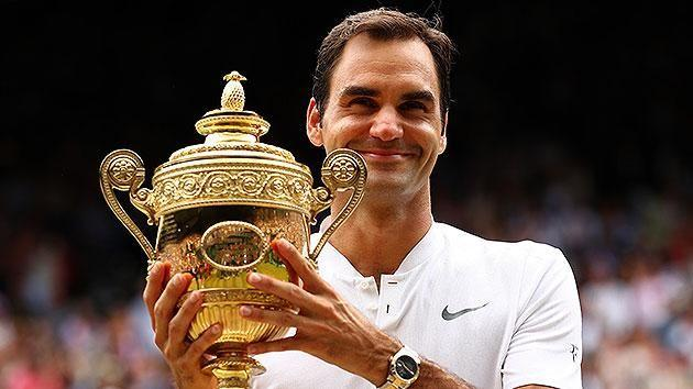 Federer refused to confirm whether he'd be back next year to defend his title. Pic: Getty