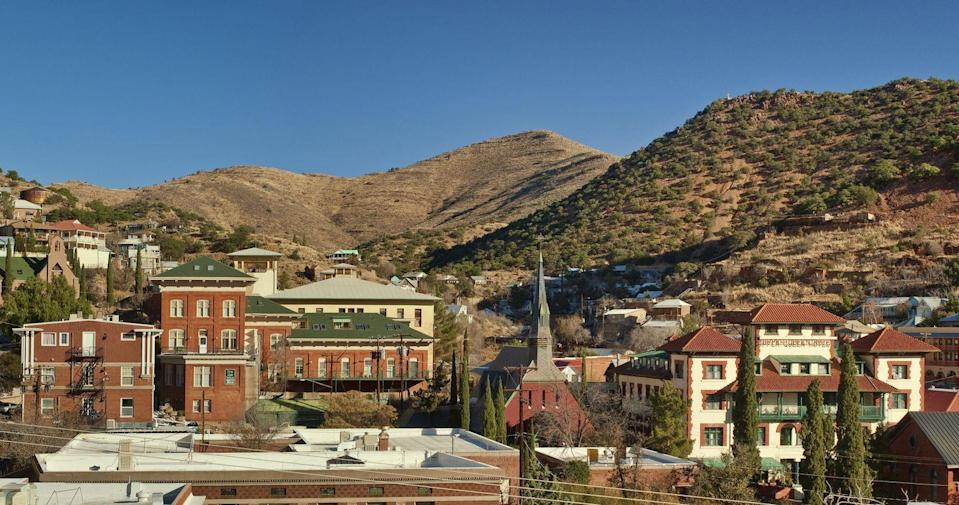 """<p>You can't help but expand your horizons in Bisbee, a town that happily embraces the arts and a generally free-spirited vibe. Local artists display their works at the many galleries in town and can be found teaching open workshops at <a href=""""http://www.bisbeecraftschool.org/"""" rel=""""nofollow noopener"""" target=""""_blank"""" data-ylk=""""slk:Bisbee Craft School"""" class=""""link rapid-noclick-resp"""">Bisbee Craft School</a>.</p><p><a href=""""https://www.housebeautiful.com/room-decorating/outdoor-ideas/g2614/she-sheds-ideas/"""" rel=""""nofollow noopener"""" target=""""_blank"""" data-ylk=""""slk:Expand your hobby space with these projects »"""" class=""""link rapid-noclick-resp""""><em>Expand your hobby space with these projects »</em></a></p>"""