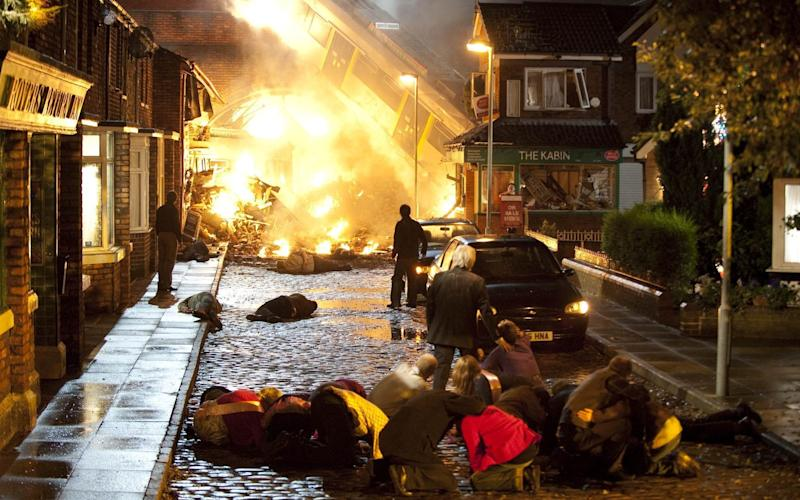 Crashes and explosions have become all too common our soaps - ITV
